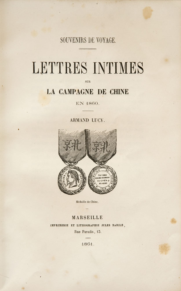 Armand Lucy : Lettres Intimes