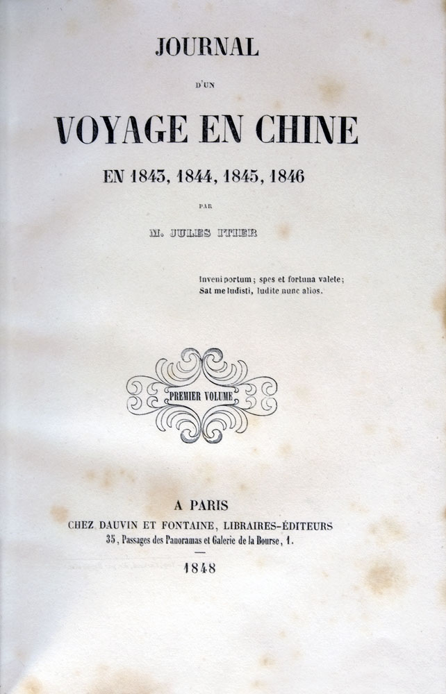 Jules Itier : Journal d'un voyage en Chine