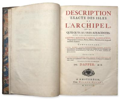 Dapper : Description exacte des isles de l'archipel