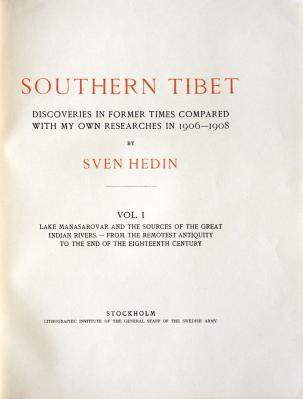Sven Hedin : Southern Tibet