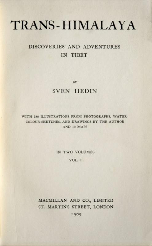 Sven Hedin : Trans-Himalaya