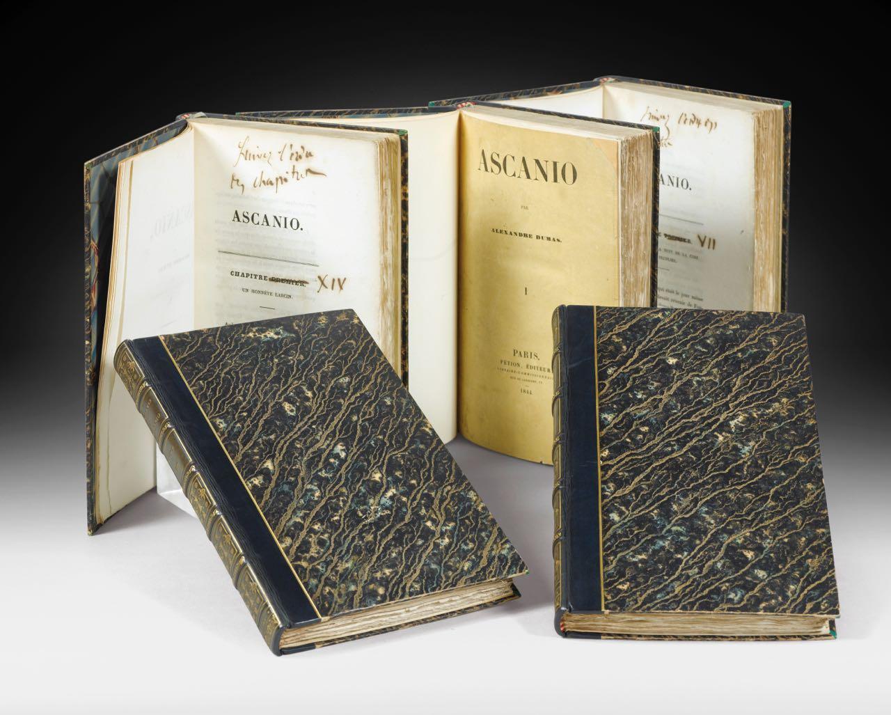 DUMAS. ASCANIO La très rare édition originale annontée par DUMAS !
