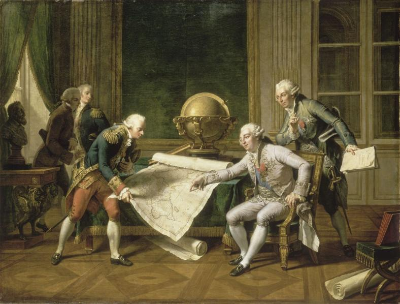 Louis xvi donnant ses instructions