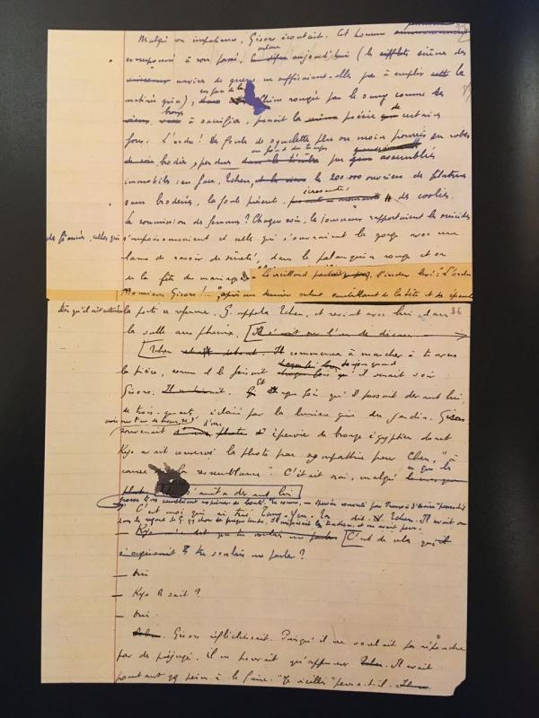 Malraux manuscrit