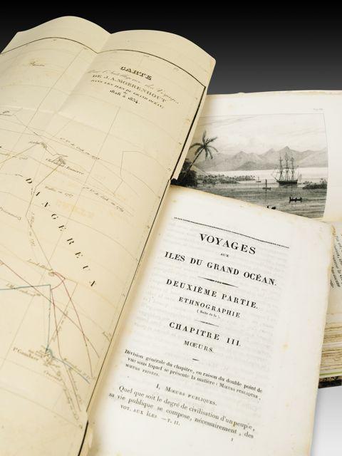 MOERENHOUT. Voyages aux Îles du Grand Océan ÉDITION ORIGINALE TRÈS RARE